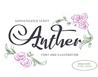 Anther Font and Illustration