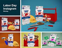 Labor Day Instagram Mockup