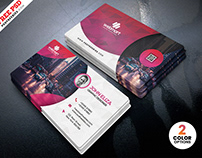 Modern Clean Business Card PSD Templates