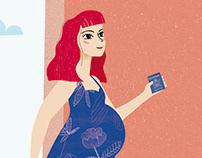 Ser Padres - Tu primer viaje con panza - Ilustraciones