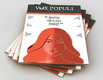 Vox Populi- Content layout and design of college zine