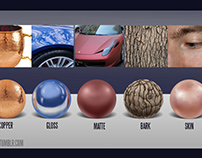 Material Spheres: A Texture Study
