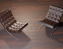 3D - Almost a realistic Barcelona Chair