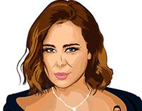 My illustration for The Lady Carole Samaha #VectorArt