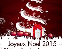 Carte vœux noël 2015