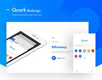 Quark app design