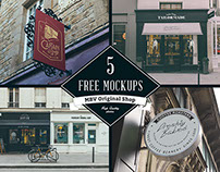 5x PSD Shop Mock Ups - Free Download