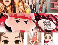 K-Pop Idols Collaboration Paper Toy