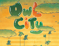 Owl City Gig Poster