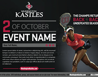 Washington Kastles Pro Tennis Branding