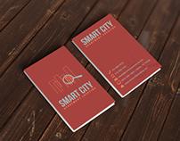 Smart City Business Card Mock Up