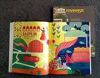 ITC Namaste: Jaipur illustration