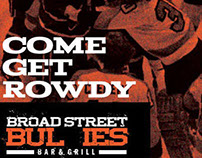 Broad Street Bullies Bar & Grill Logo and Campaign