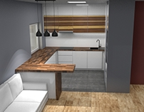 Making 3d concept of kitchen build to real room