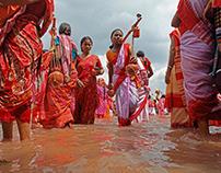 : Devotees carrying holyGangawater