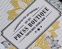PRESS BOUTIQUE LETTERPRESS DEBUT