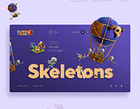 Skeleton UI design concept.