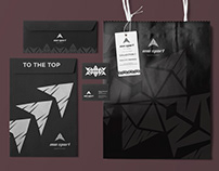 Logo and identity design for a sportwear brand