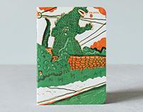 Godzilla notebook (Falafel books)