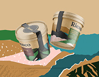 Riesco Ice Cream / Sustainable Packaging Design