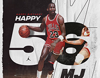 Michael Jordan 56th birthday