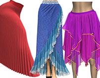 Marvelous Designer Skirt Templates & Project Files