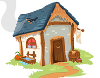 Barn House Illustration