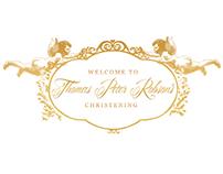Christening Banner
