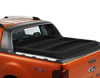 Hard tonneau cover design for Ford Ranger Wildtrak