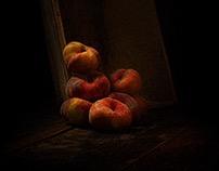 Wilde perzik en fruit