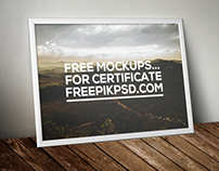 Free Certificate Mockups Psd Download