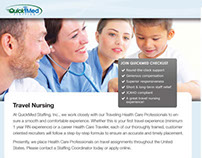 QuickMed Staffing brochures