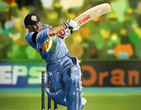 Sachin Tendulkar Illustration