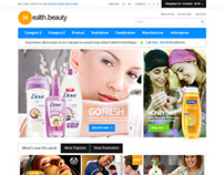 Healthy & Beauty, Opencart Clean Minimalistic Shop