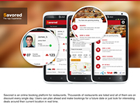 Savored: Restaurant Discovery App Concept - UI/UX