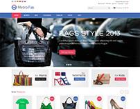 MetroFas, Magento Pro Bags Shoes Store Theme