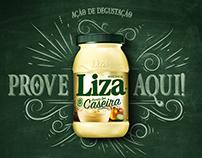 Ação de Degustação Liza Caseira