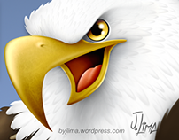 Get this mascot design: Eagle