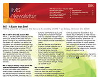 IBM IMS Newsletter