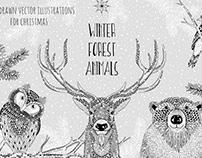 Winter Forest AnimalsbyFranzi draws