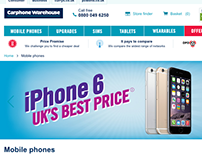Carphone warehouse mobile site