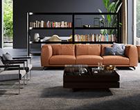 Cozy Living Space | 3D Interior Design