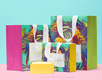 Shopping Bags with a Gift Box PSD Mockup