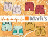 Shorts Design for Mark's