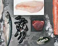 Fish and seafood leaflet DL fot Alma Market
