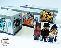 Paper Toys Trains • Old School Graffiti