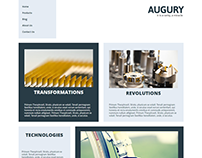 Augury Blocks Corporate Website Concept