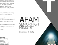 2012-2013 AFam Sunday Weekly Bulletin