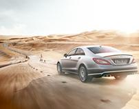 Dubai | Desert | Bridge | Mercedes CLS 63 AMG - CGI