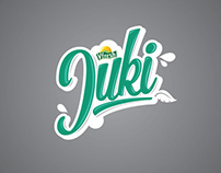 Juki fruitjuice logo and packaging